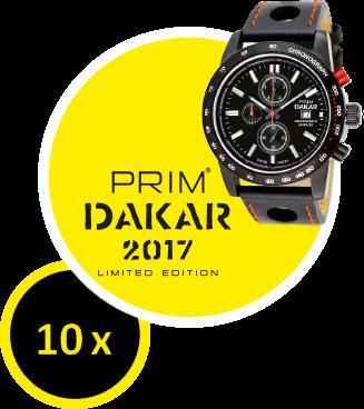 Limitovaná edícia športového chronografu Dakar 2017 spĺňa najprísnejšie požiadavky. Hodinky PRIM ti budú slúžiť celé roky!