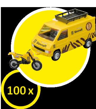 Zlož si originálny model auta a motorky z limitovanej edície Rely Dakar.